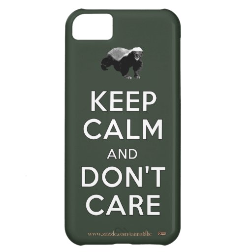 Keep Calm and Don't Care Case For iPhone 5C