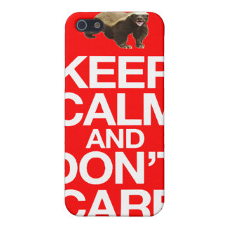 KEEP CALM AND DON'T CARE HONEY BADGER iPHONE CASE Case For iPhone 5