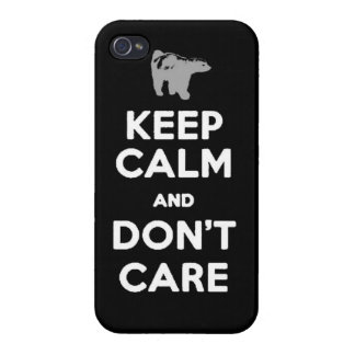 keep calm and dont care honey badger phone case cover for iPhone 4