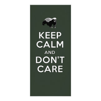 Keep Calm and Don't Care Personalized Rack Card