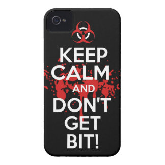 Keep Calm and don't get bit kill zombie zombies wa Case-Mate iPhone 4 Cases