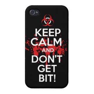 Keep Calm and don't get bit kill zombie zombies wa iPhone 4/4S Cases