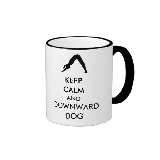 Keep Calm and Downward Dog Coffee Mug