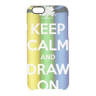 Keep Calm and Draw On Colours Clear iPhone 6/6S Case