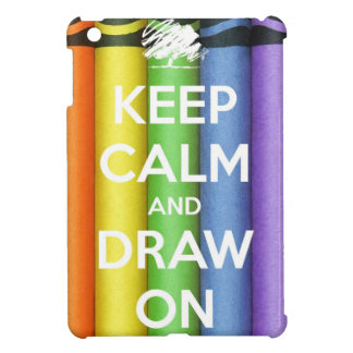 Keep Calm and Draw On Colours iPad Mini Cases
