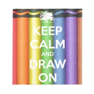 Keep Calm and Draw On Colours Notepad