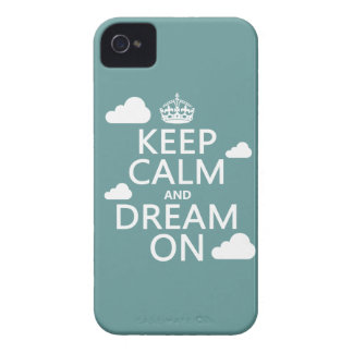 Keep Calm and Dream On (clouds) - all colors iPhone 4 Covers