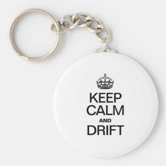 KEEP CALM AND DRIFT KEY CHAINS