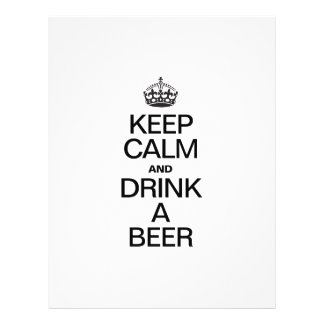 KEEP CALM AND DRINK A BEER FLYER DESIGN