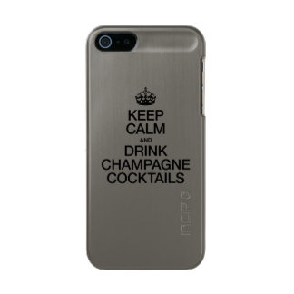 KEEP CALM AND DRINK CHAMPAGNE COCKTAILS INCIPIO FEATHER® SHINE iPhone 5 CASE