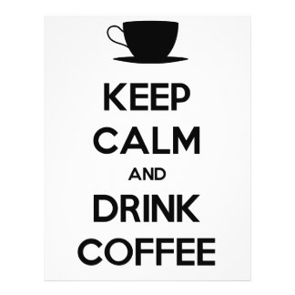 Keep Calm and Drink Coffee 21.5 Cm X 28 Cm Flyer