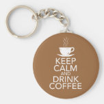 Keep Calm and Drink Coffee Gift Items Key Chain