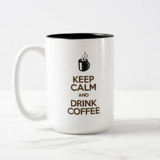 Keep Calm and Drink Coffee – Two-tone mug