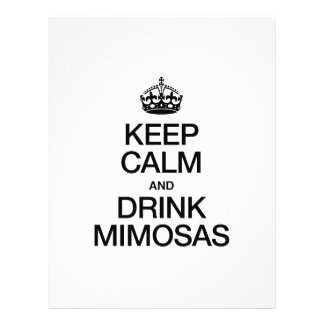KEEP CALM AND DRINK MIMOSAS FLYER