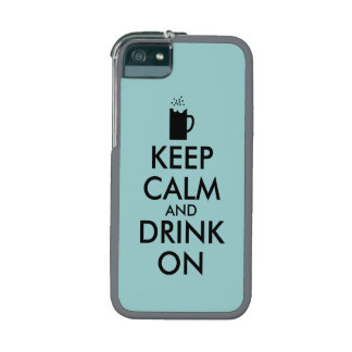 Keep Calm and Drink On Beer Soda Root Beer Lovers iPhone 5/5S Covers