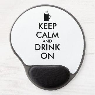 Keep Calm and Drink On Beer Soda Root Beer Lovers Gel Mouse Pad