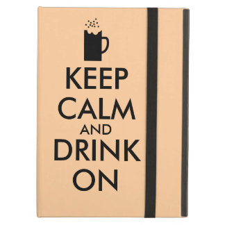 Keep Calm and Drink On Beer Soda Root Beer Lovers iPad Air Cover