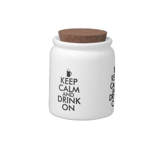 Keep Calm and Drink On Beer Soda Root Beer Lovers Candy Jars