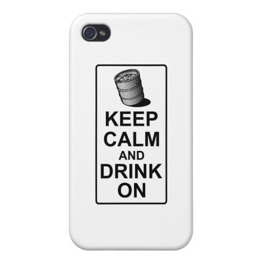 Keep Calm and Drink On - British Keg Parody iPhone 4 Case