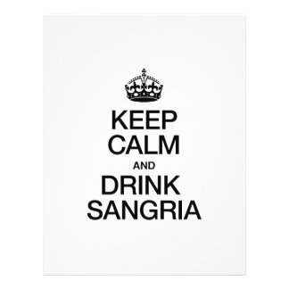 KEEP CALM AND DRINK SANGRIA FLYER