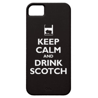 Keep Calm and Drink Scotch (black) Case For The iPhone 5