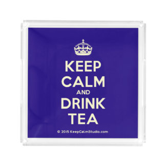 Keep Calm and Drink Tea Acrylic Tray