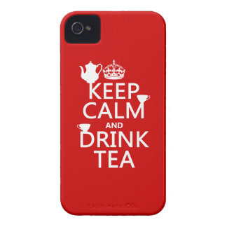 Keep Calm and Drink Tea - All Colors Case-Mate iPhone 4 Case