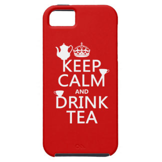 Keep Calm and Drink Tea - All Colours iPhone 5 Covers