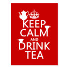 Keep Calm and Drink Tea - All Colours Postcard