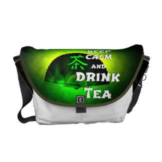 keep calm and drink tea - asia edition - green tea courier bag
