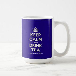 Keep Calm and Drink Tea Basic White Mug