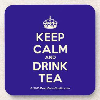Keep Calm and Drink Tea Beverage Coasters