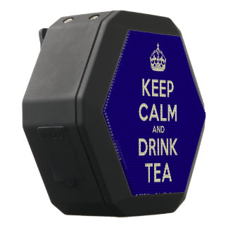 Keep Calm and Drink Tea Black Bluetooth Speaker