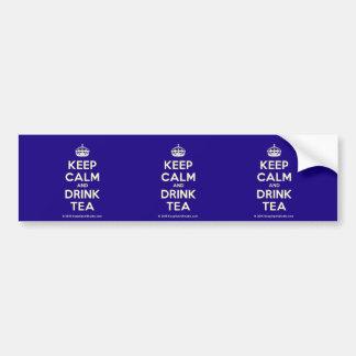 Keep Calm and Drink Tea Bumper Sticker