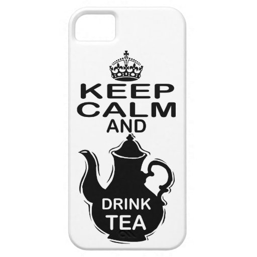 Keep Calm and Drink Tea iPhone 5 Cases