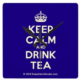Keep Calm and Drink Tea Clock