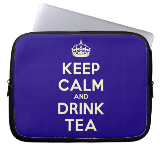 Keep Calm and Drink Tea Computer Sleeves