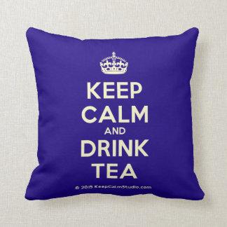 Keep Calm and Drink Tea Cushions