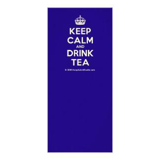 Keep Calm and Drink Tea Customised Rack Card