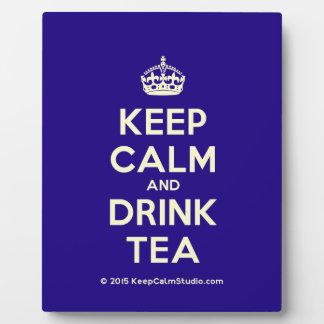 Keep Calm and Drink Tea Display Plaques