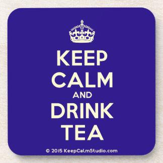 Keep Calm and Drink Tea Drink Coaster