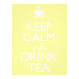 KEEP CALM AND DRINK TEA FLYER DESIGN