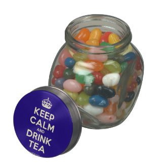 Keep Calm and Drink Tea Glass Jar