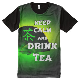 keep calm and drink tea - green asia edition All-Over print T-Shirt