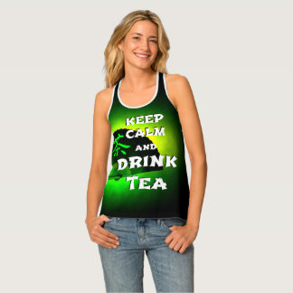 Keep calm and drink tea - green asia edition singlet