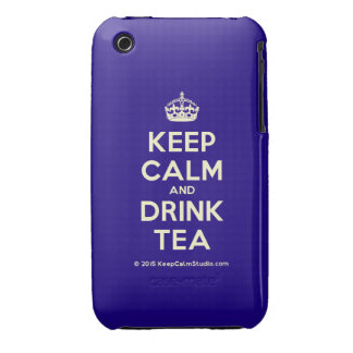 Keep Calm and Drink Tea iPhone 3 Case-Mate Case