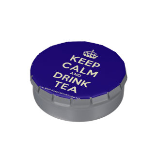 Keep Calm and Drink Tea Jelly Belly Tin