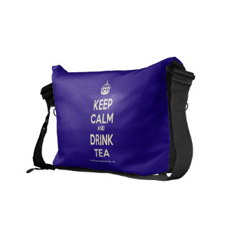 Keep Calm and Drink Tea Messenger Bags