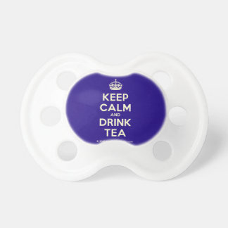 Keep Calm and Drink Tea Pacifier