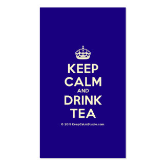 Keep Calm and Drink Tea Pack Of Standard Business Cards